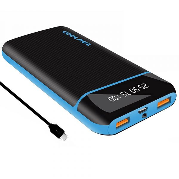 20000 mAh QC (QC 3.0) Fast Charging Power Bank (With C-Type Cable)