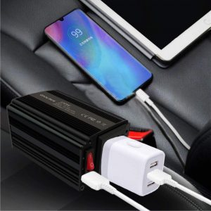 Coolnut Car Power Inverter 12V DC to 110V AC Converter with 2.1A USB Car Charger