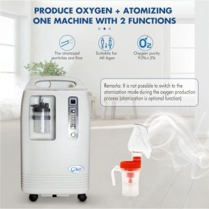 5L Olive Oxygen Concentrator With Battery Backup